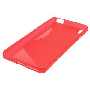 S-line gelový obal na mobil Sony Xperia E5 - červený - 4