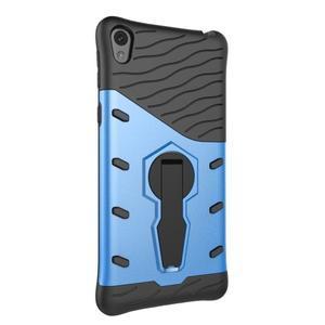 Armory odolný obal se stojánkem na Sony Xperia E5 - modrý - 4