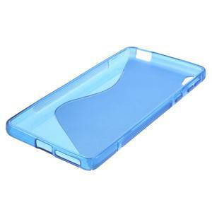 S-line gelový obal na mobil Sony Xperia E5 - modrý - 4