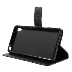 Leathy PU kožené pouzdro na Sony Xperia E5 - černé - 4