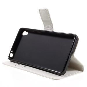 Leathy PU kožené pouzdro na Sony Xperia E5 - bílé - 4
