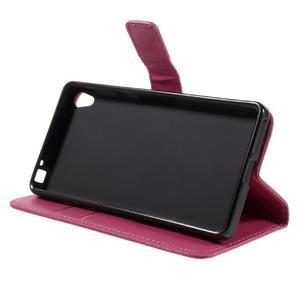 Leathy PU kožené pouzdro na Sony Xperia E5 - rose - 4