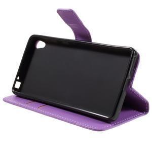 Leathy PU kožené pouzdro na Sony Xperia E5 - fialové - 4