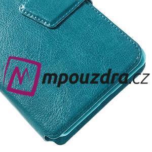 Horn PU kožené pouzdro na Xiaomi Redmi 3 Pro - modré - 4