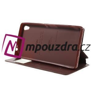 Richi PU kožené pouzdro s okýnkem na Sony Xperia XA Ultra - hnědé - 4