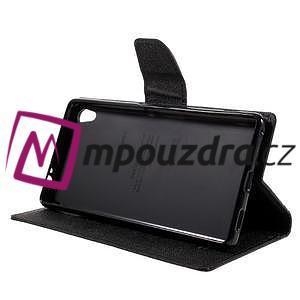 Diary PU kožené pouzdro na mobil Sony Xperia XA Ultra - černé - 4