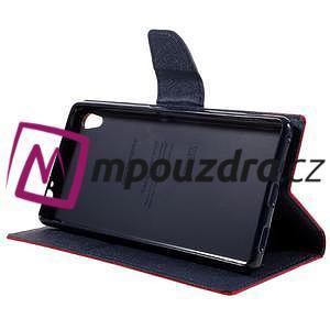 Diary PU kožené pouzdro na mobil Sony Xperia XA Ultra - červené - 4