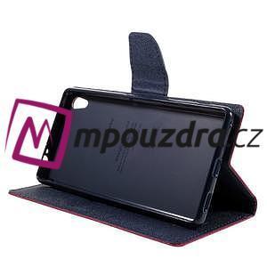 Diary PU kožené pouzdro na mobil Sony Xperia XA Ultra - rose - 4