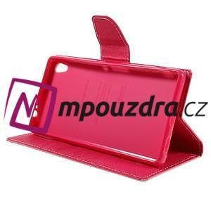 Diary PU kožené pouzdro na mobil Sony Xperia XA Ultra - růžové - 4
