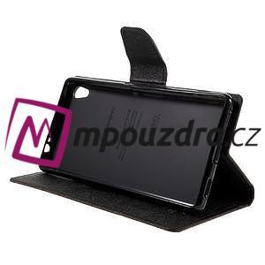 Diary PU kožené pouzdro na mobil Sony Xperia XA Ultra - hnědé - 4