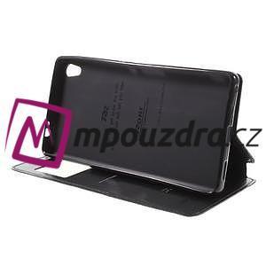 Richi PU kožené pouzdro s okýnkem na Sony Xperia XA Ultra - černé - 4