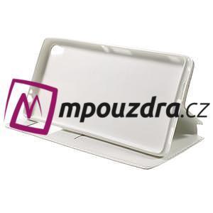 Richi PU kožené pouzdro s okýnkem na Sony Xperia XA Ultra - bílé - 4