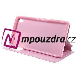 Richi PU kožené pouzdro s okýnkem na Sony Xperia XA Ultra - růžové - 4