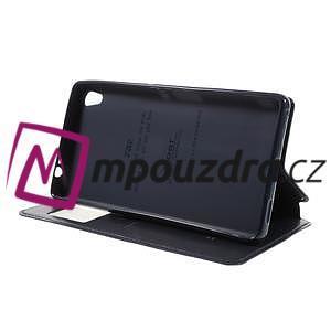 Richi PU kožené pouzdro s okýnkem na Sony Xperia XA Ultra - tmavěmodré - 4