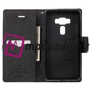 Diary PU kožené pouzdro na mobil Asus Zenfone 3 Deluxe - černé - 4