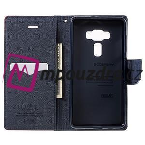 Diary PU kožené pouzdro na mobil Asus Zenfone 3 Deluxe - červené - 4