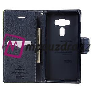 Diary PU kožené pouzdro na mobil Asus Zenfone 3 Deluxe - zelené - 4