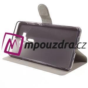 Horse PU kožené pouzdro na Asus Zenfone 3 Deluxe - bílé - 4