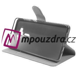 Horse PU kožené pouzdro na Asus Zenfone 3 Deluxe - černé - 4