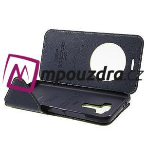 Diary pouzdro s okýnkem na mobil Asus Zenfone 3 ZE520KL - zelené - 4