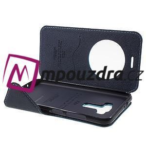 Diary pouzdro s okýnkem na mobil Asus Zenfone 3 ZE520KL - světlemodré - 4