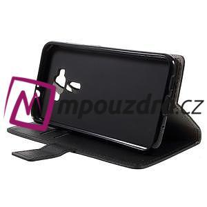 Leathy peněženkové pouzdro na Asus Zenfone 3 ZE520KL - černé - 4