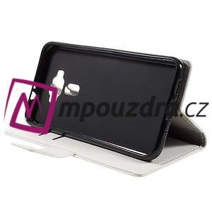 Leathy peněženkové pouzdro na Asus Zenfone 3 ZE520KL - bílé - 4