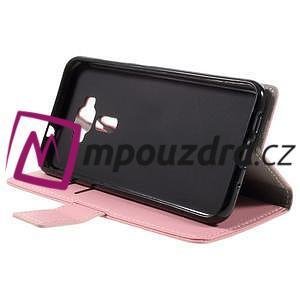 Leathy peněženkové pouzdro na Asus Zenfone 3 ZE520KL - růžové - 4