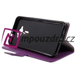 Leathy peněženkové pouzdro na Asus Zenfone 3 ZE520KL - fialové - 4