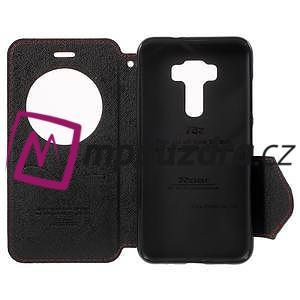 Diary pouzdro s okýnkem na mobil Asus Zenfone 3 ZE520KL - červené - 4