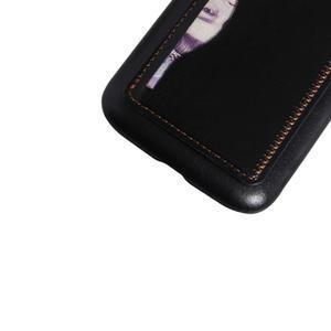 PU kožený kryt se stojánkem na BlackBerry Classic - černé - 4