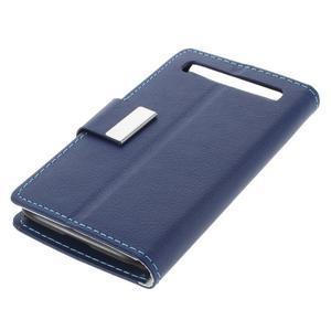 Peněženkové pouzdro na mobil BlackBerry Classic - modré - 4