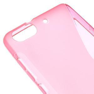 S-line gelový obal na mobil Honor 4C - rose - 4