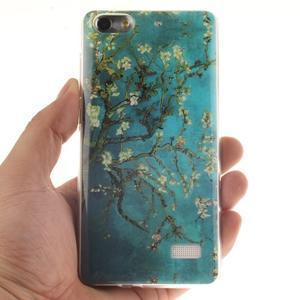 Gelový obal na mobil Honor 4C - kvetoucí strom - 4