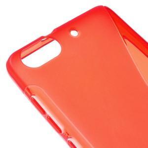 S-line gelový obal na mobil Honor 4C - červený - 4