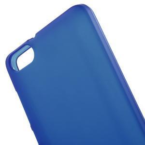 Matný gelový obal na Honor 4C - modrý - 4