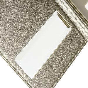 PU kožené pouzdro s okýnky na Honor 4C - champagne - 4