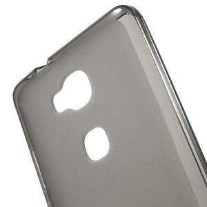 Matný gelový obal na mobil Honor 5X - šedý - 4