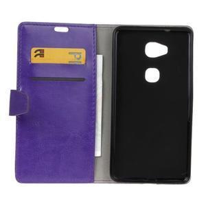 Horse peněženkové koženkové pouzdro na Huawei Honor 5X - fialové - 4