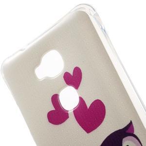 Drop gelový obal na Huawei Honor 5X - soví rodinka - 4