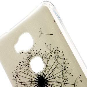 Drop gelový obal na Huawei Honor 5X - černé pampelišky - 4
