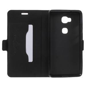 Peněženkové PU kožené pouzdro na mobil Honor 5X - černé - 4