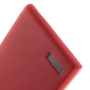 Matné gelové pouzdro na Huawei Ascend G6 - červené - 4