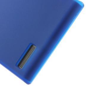 Matné gelové pouzdro na Huawei Ascend G6 - modré - 4