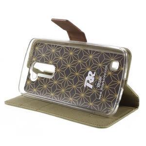 Style PU kožené pouzdro pro LG K10 - khaki - 4