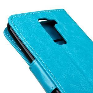 Horse PU kožené pouzdro na LG K10 - modré - 4