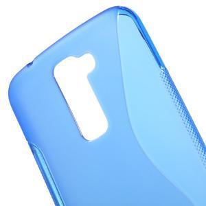 S-line gelový obal na mobil LG K10 - modrý - 4