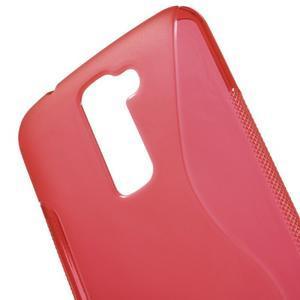S-line gelový obal na mobil LG K10 - červený - 4