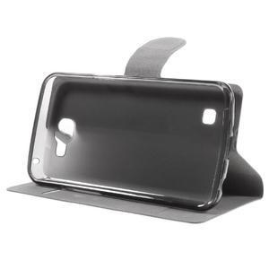 Horse PU kožené pouzdro na mobil LG K4 - hnědé - 4
