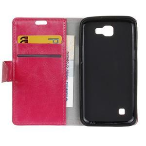 Leat peněženkové pouzdro na LG K4 - rose - 4